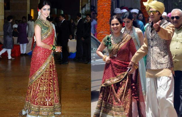Same lehenga, different weddings: Genelia's love for ...