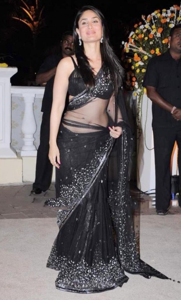 Saree Market: Bollywood Actress Kareena Kapoor in Black ...