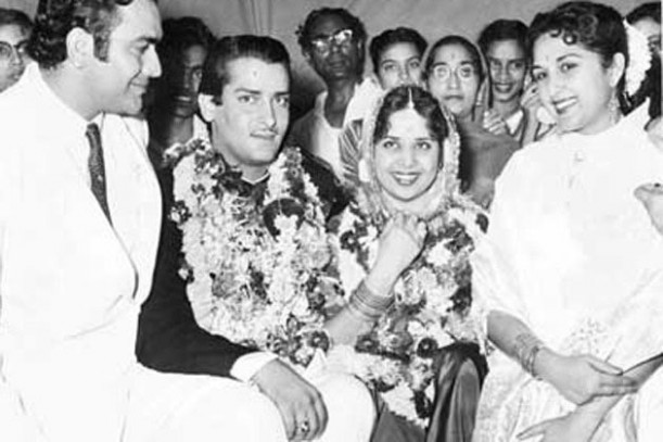 Shammi Kapoor married Geeta Bali at Banganga Temples (1955 - top bollywood marriage songs
