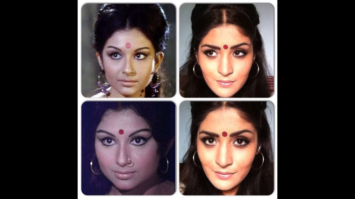 Sharmila Tagore inspired Retro 60's Makeup tutorial - YouTube