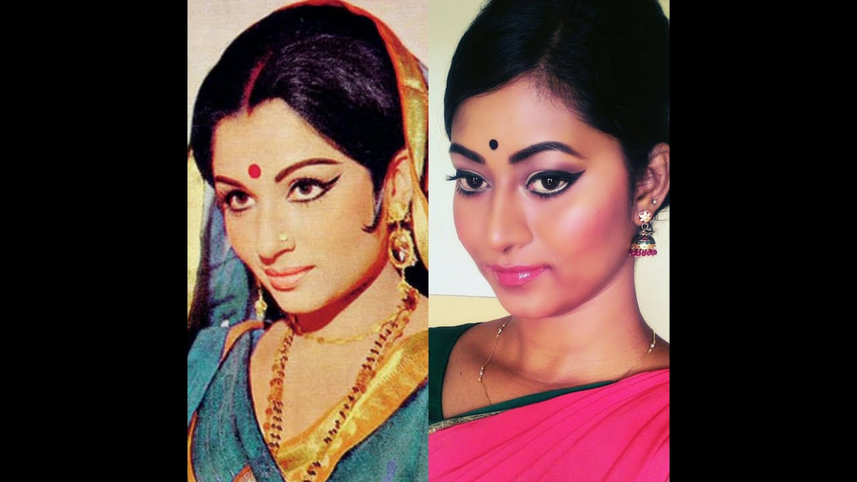 Sharmila Tagore Inspired Retro Makeup Tutorial | Beauty ...