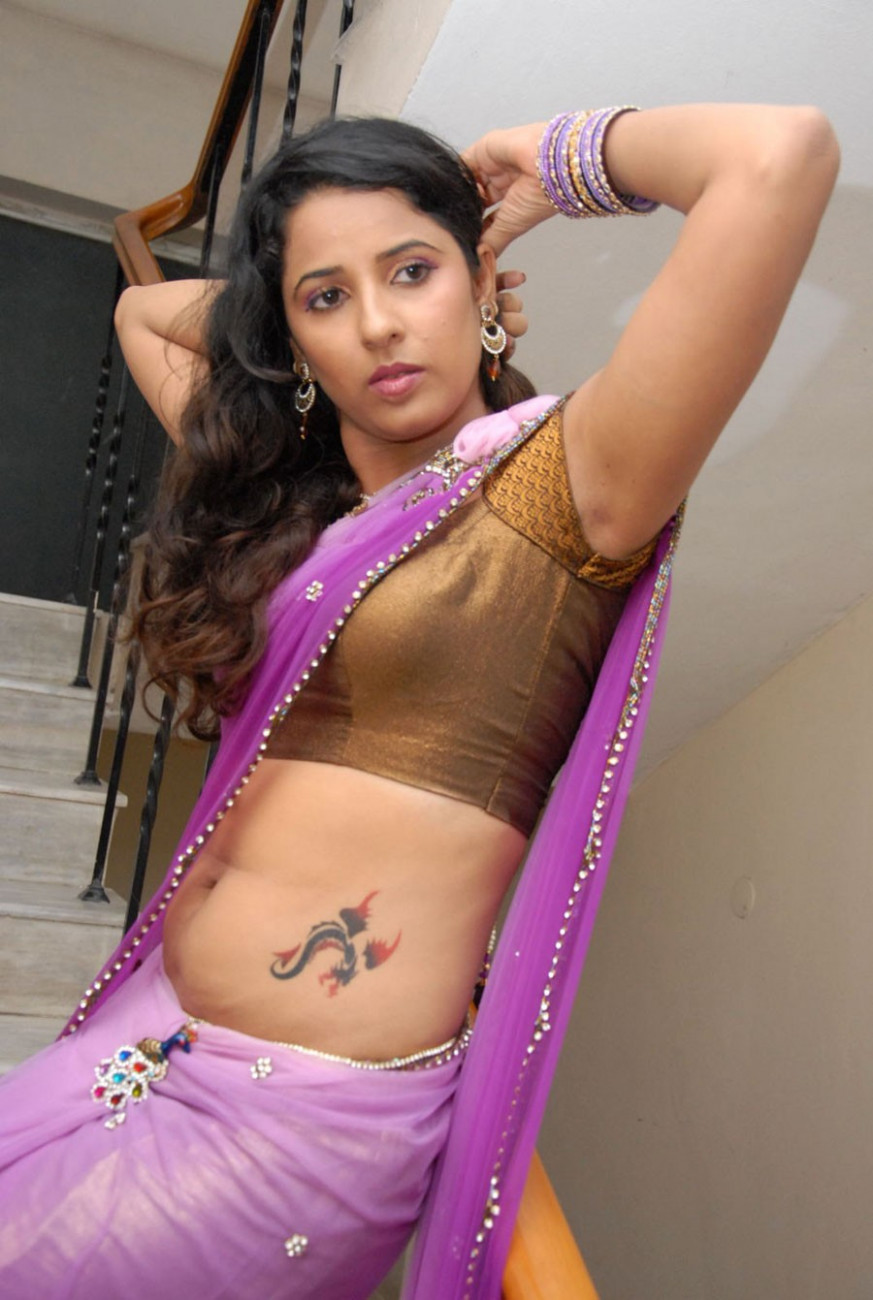 Shravya Reddy atest Saree Pics at NRI Audio Release ..