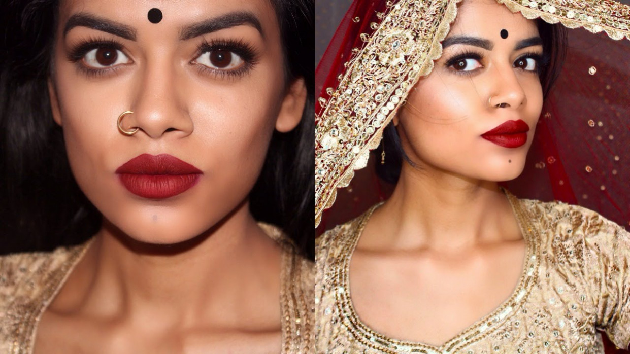 Simple Bollywood Makeup Tutorial - YouTube