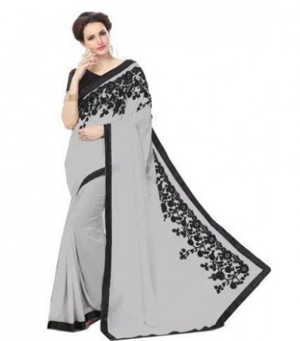 SJ004 - Grey Bollywood Designer Saree |Sri lanka