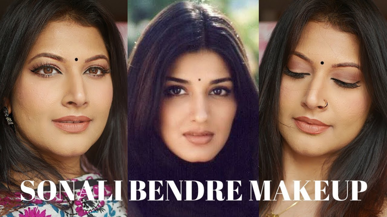 SONALI BENDRE NATURAL MAKEUP TUTORIAL | DECODING 90'S ...