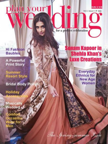 Sonam Kapoor on Plan Your Wedding Cover June 2012 Issue ...