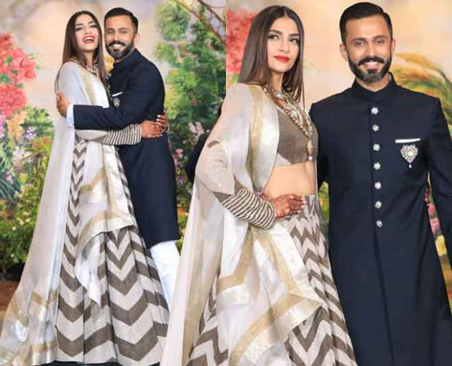 Sonam Kapoor wedding reception Bollywood stars Ambani ...