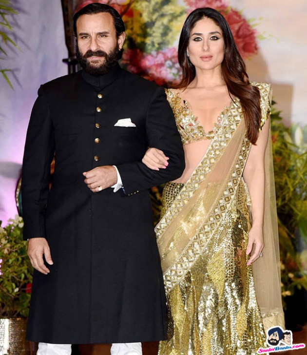 Sonam Kapoor Wedding Reception -- Saif Ali Khan and ...