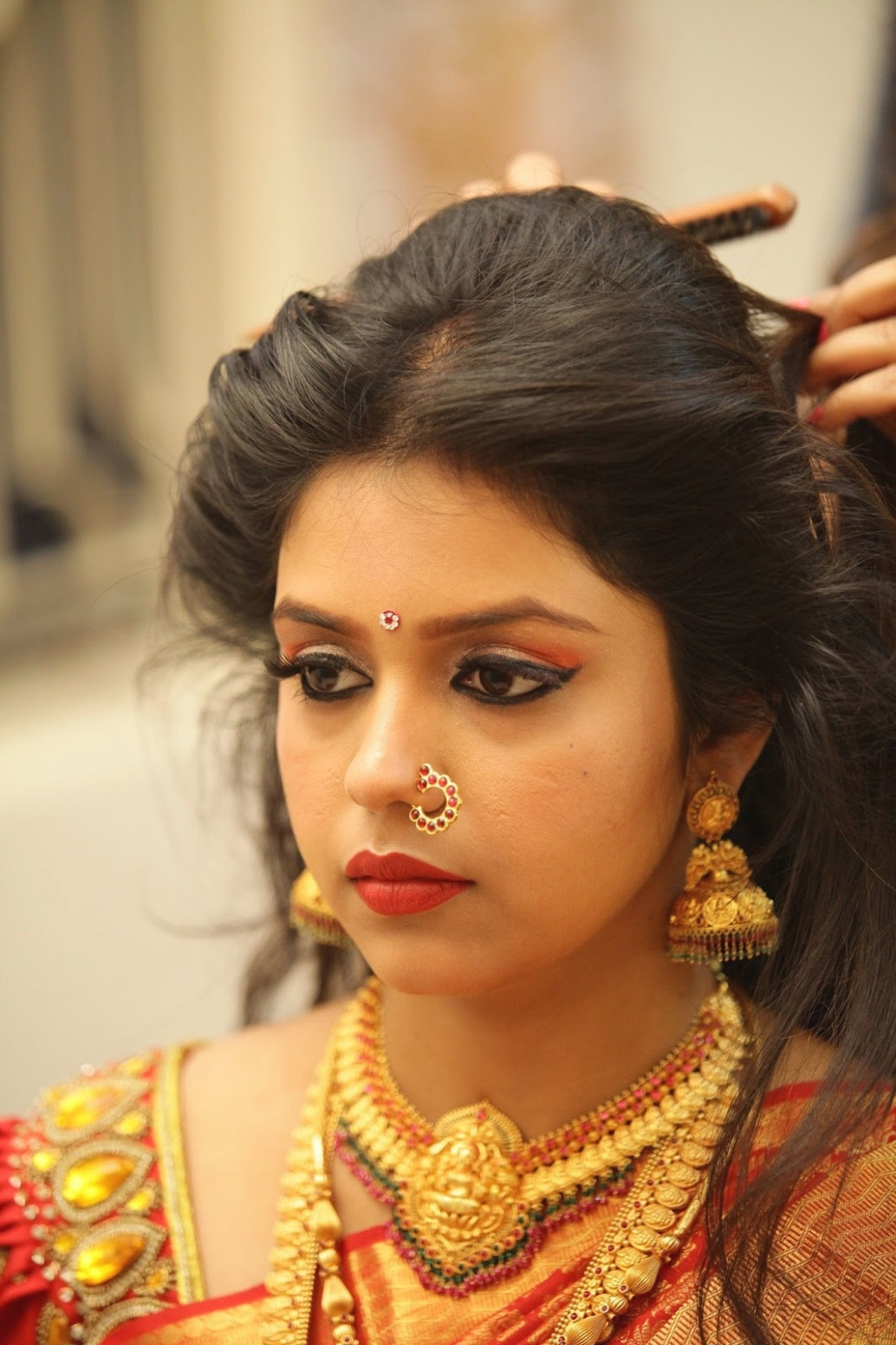 South Indian Bridal Hairstyle For Oval Face - HairStyles