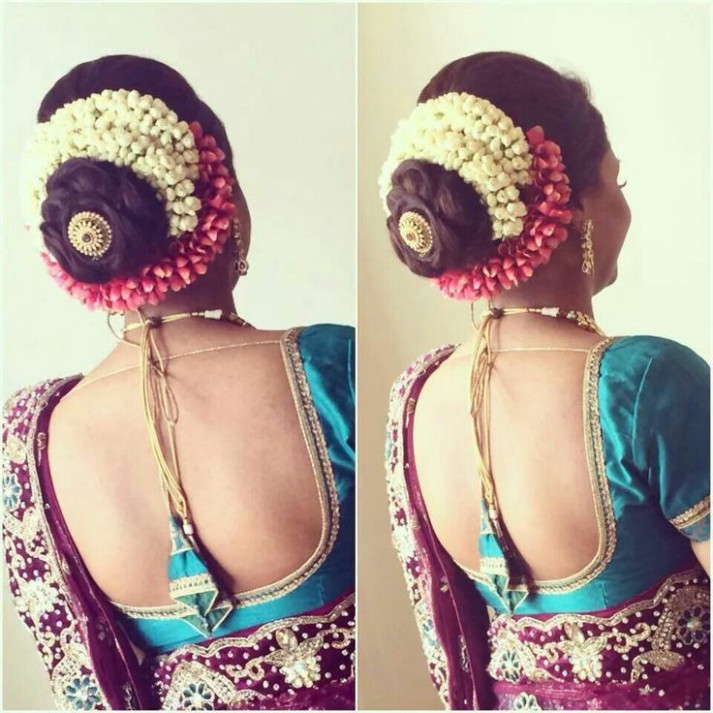 South Indian Bridal Hairstyles For Long Hair With Flowers ...