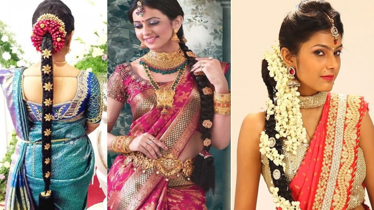 South Indian Bridal Hairstyles For Reception Videos | Fade ...