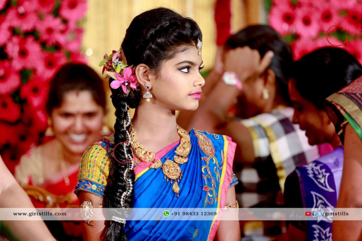South Indian Bridal Hairstyles Photographs For Reception - indian bridal reception makeup with hairstyle