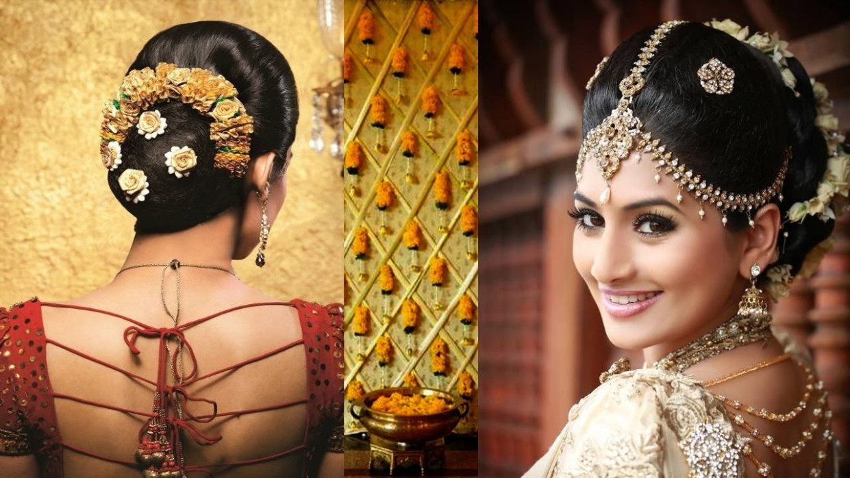 South Indian Bridal Makeup and Hairstyle Tutorial |Simple ...