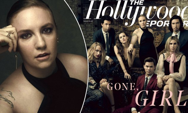 Stars of HBO's Girls pose for The Hollywood Reporter ...