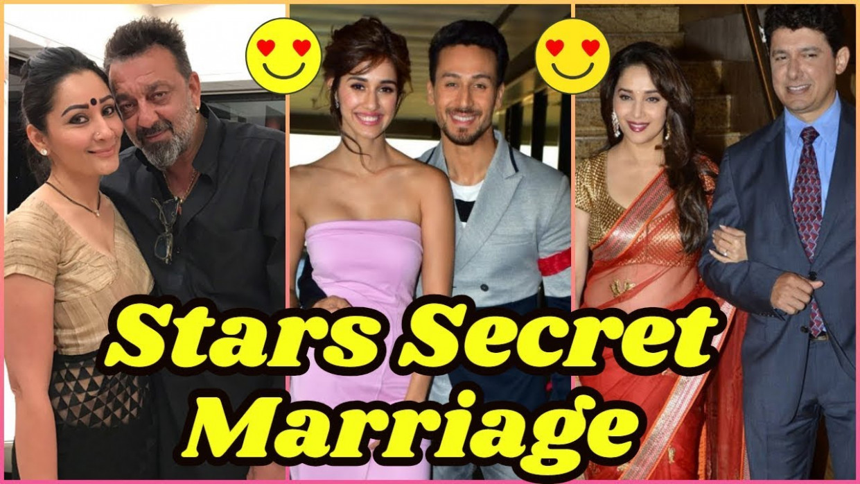 Stars Secret Marriage In Bollywood - YouTube