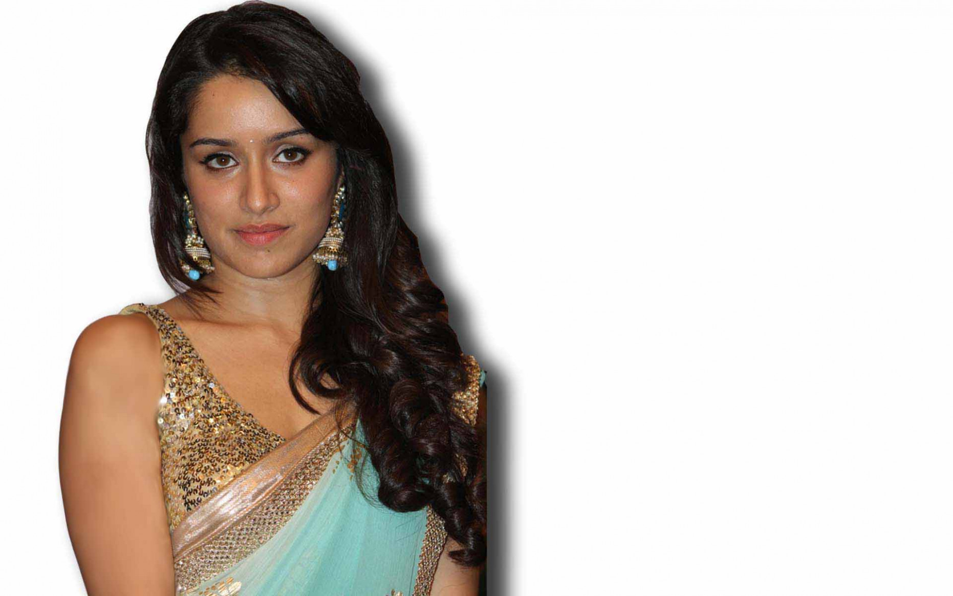 Still Shraddha Kapoor sleeveless saree widescreen desktop ..