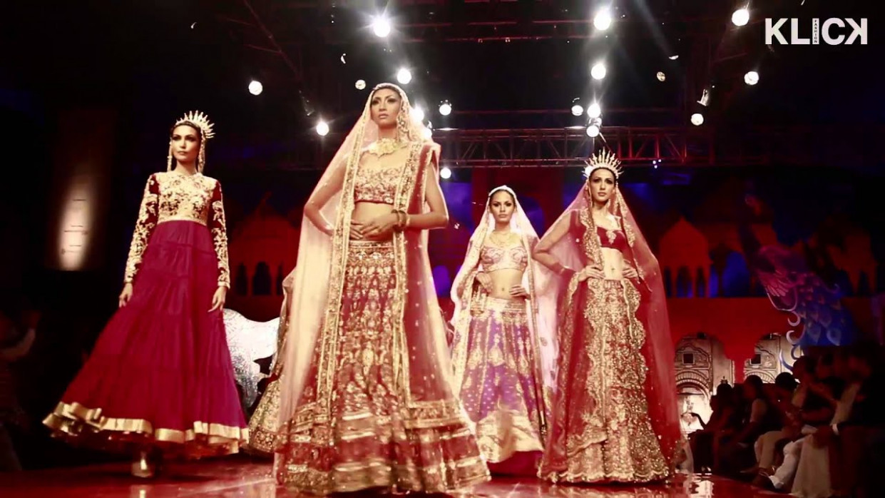 Suneet Varma show India Bridal Fashion Week 2014 - YouTube