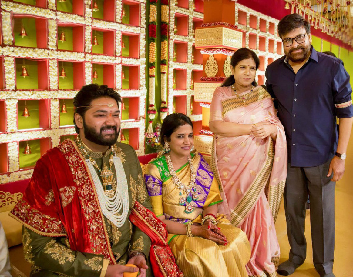 Tollywood actors at a big fat wedding event photos