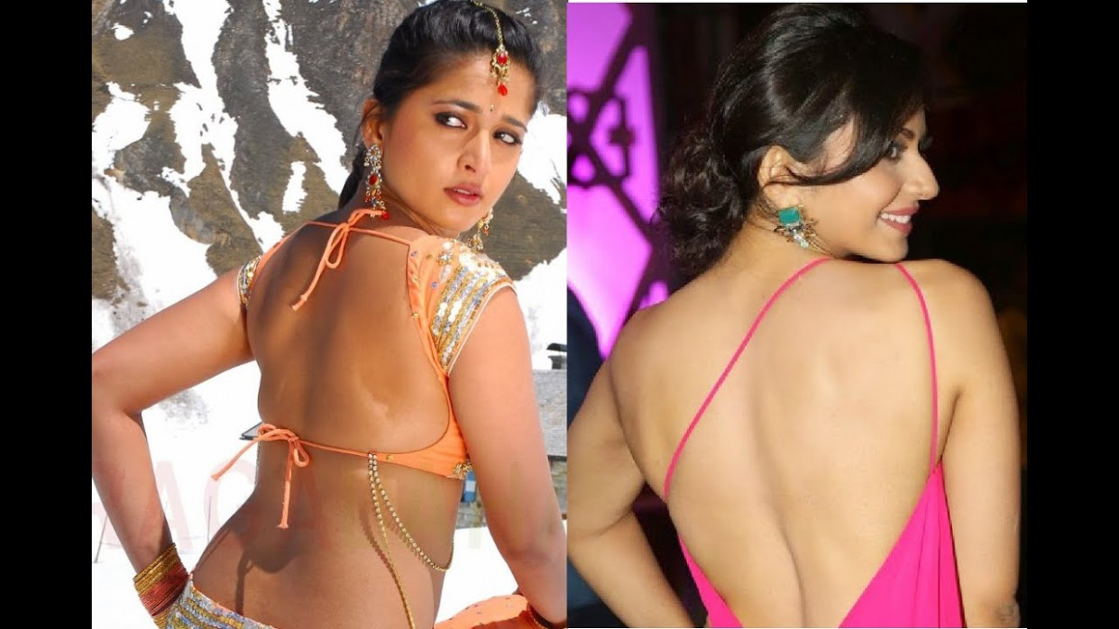 Tollywood Actress backless hot show - rakul preet, anushka ...