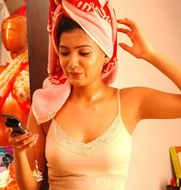 Tollywood Actress Photos: Samantha Unseen Hot Photos in Towel