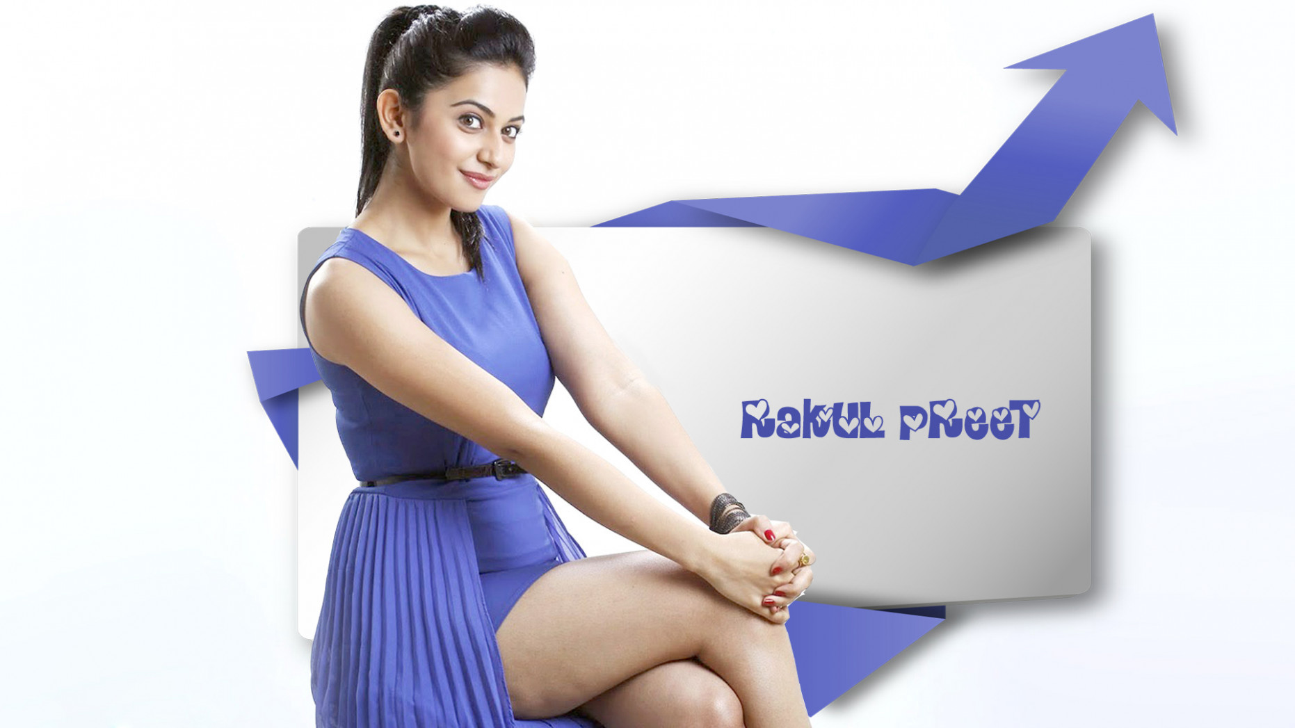 Tollywood actress Rakul Preet Singh hot legs wide desktop ...
