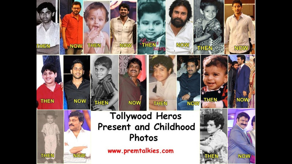 Tollywood all Heros childhood images - YouTube