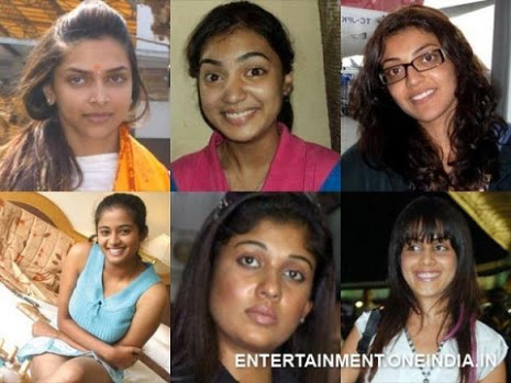 Tollywood & Bollywood & Kollywood Heroines without makeup ...