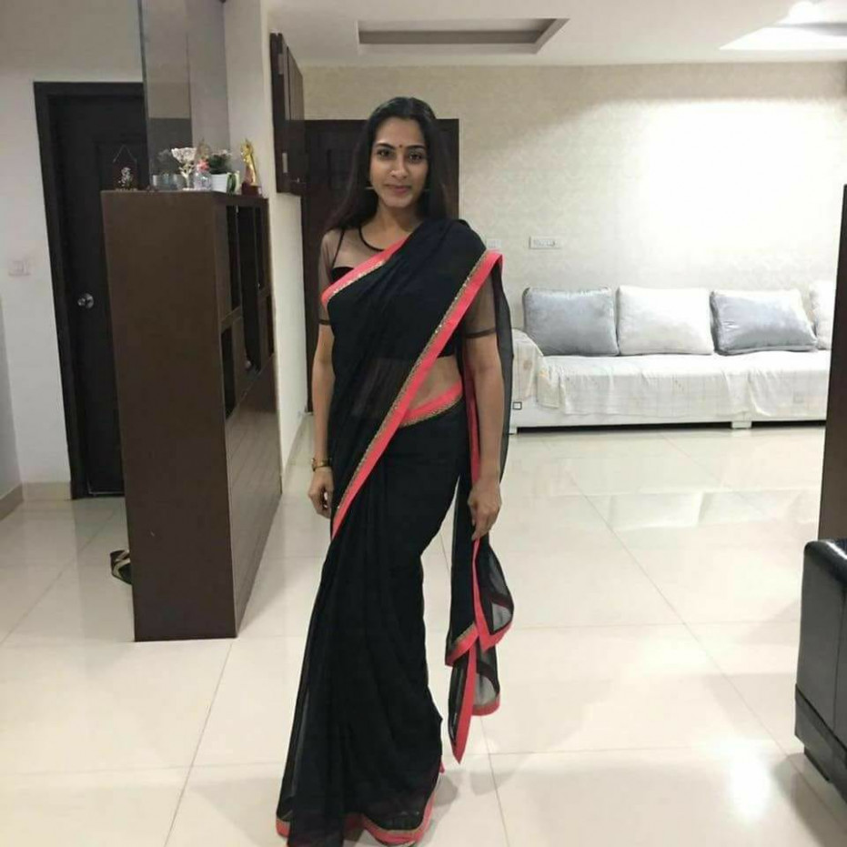 Tollywood Character Artist Surekha Vani In Black Saree ...