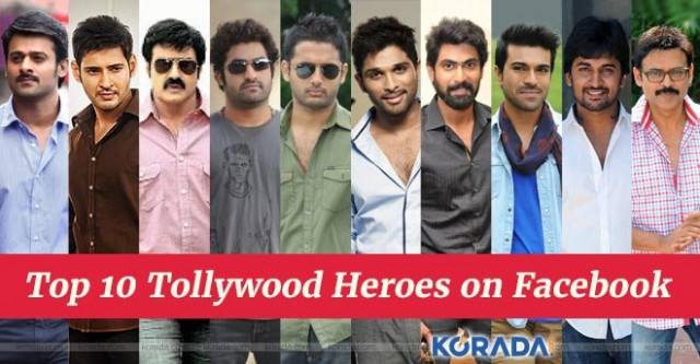 Top 10 Tollywood Heroes on Facebook