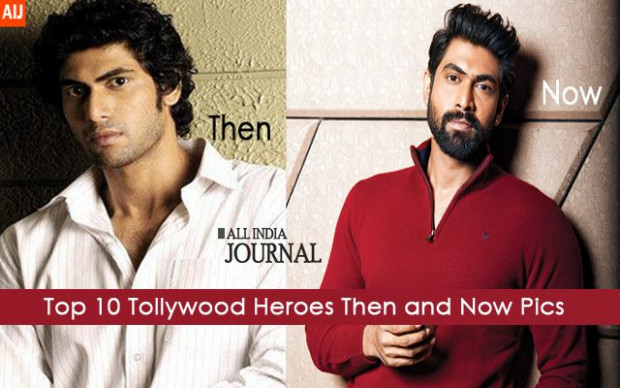 Top 10 Tollywood Heroes Then and Now Pics