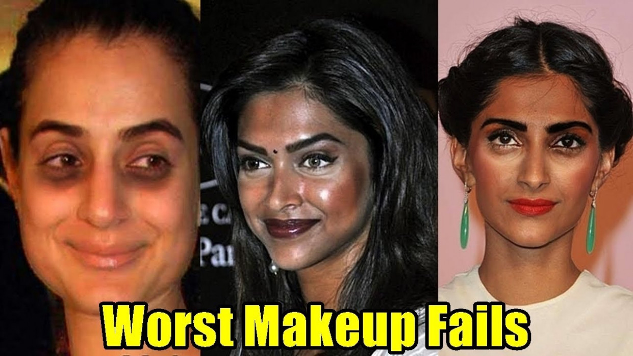 Top 11 Worst Bollywood Celebrities Makeup Fails | Shocking ...