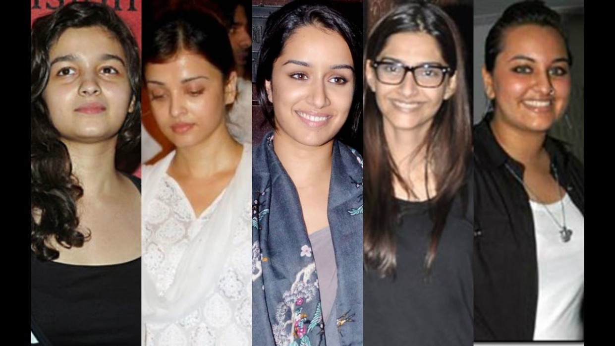 Top 25 Bollywood Actress Without Makeup 2017 - YouTube