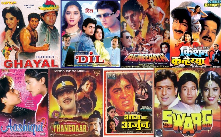 Top 25 Bollywood Films In 1990 | Super Hit Old Hindi ...