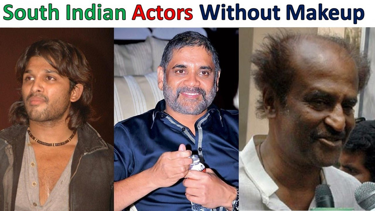 Top 8 South Indian Actors Without Makeup Unbelievable ...