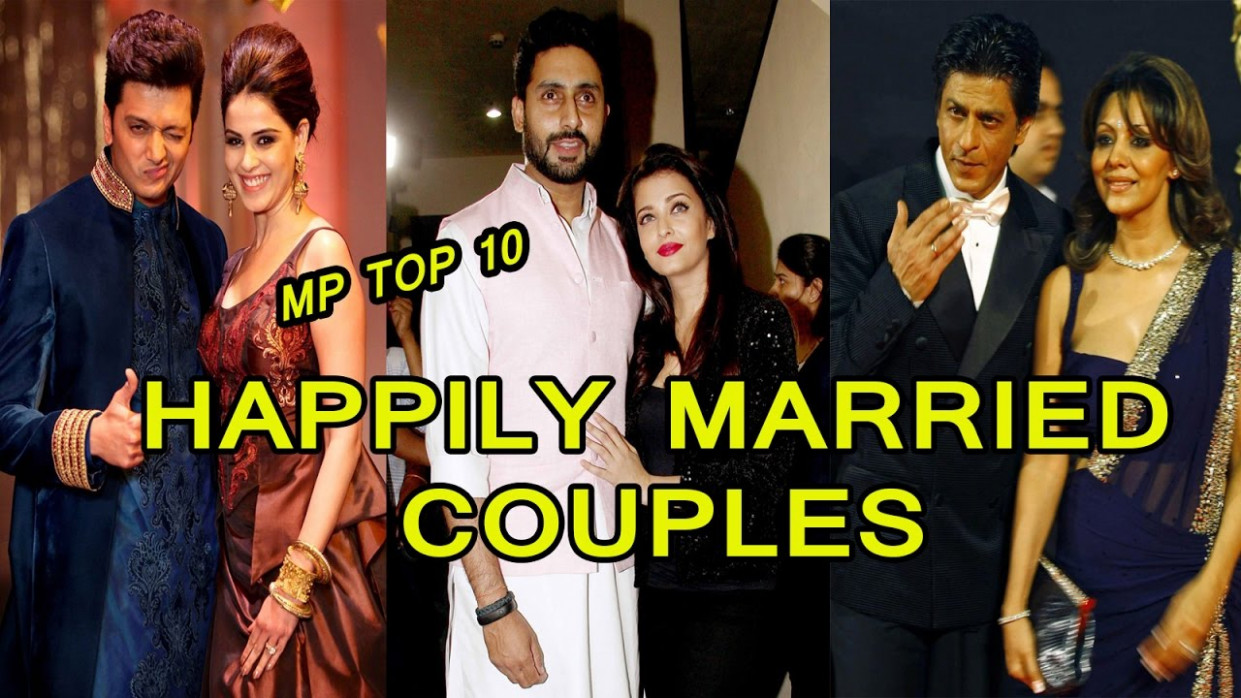 Top 9 Happily Married Couples From Bollywood - YouTube