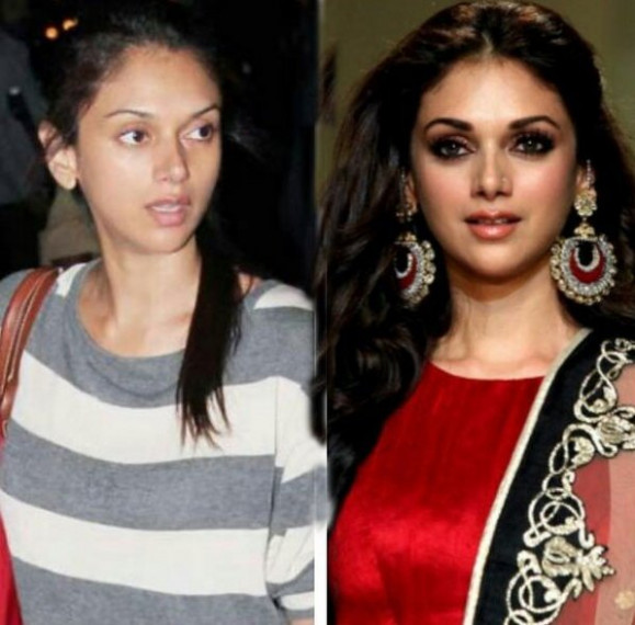 Top Actresses Without Makeup You Cannot Recognize - bollywood actress no makeup