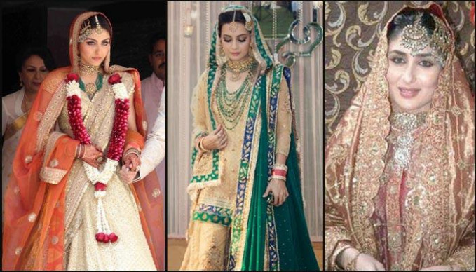 Top Bollywood Divas Who Did Not Wear Red At Their Weddings ...