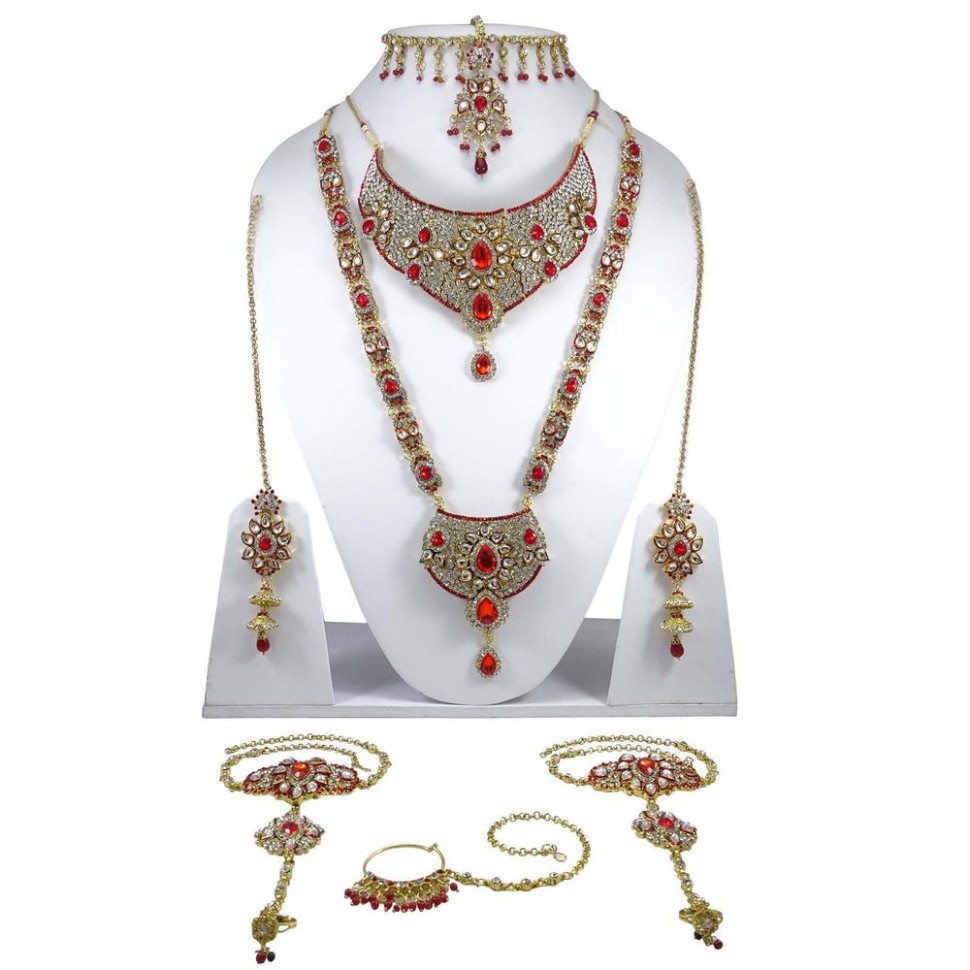 Traditional Indian Bridal Necklace Set Bollywood Wedding ...