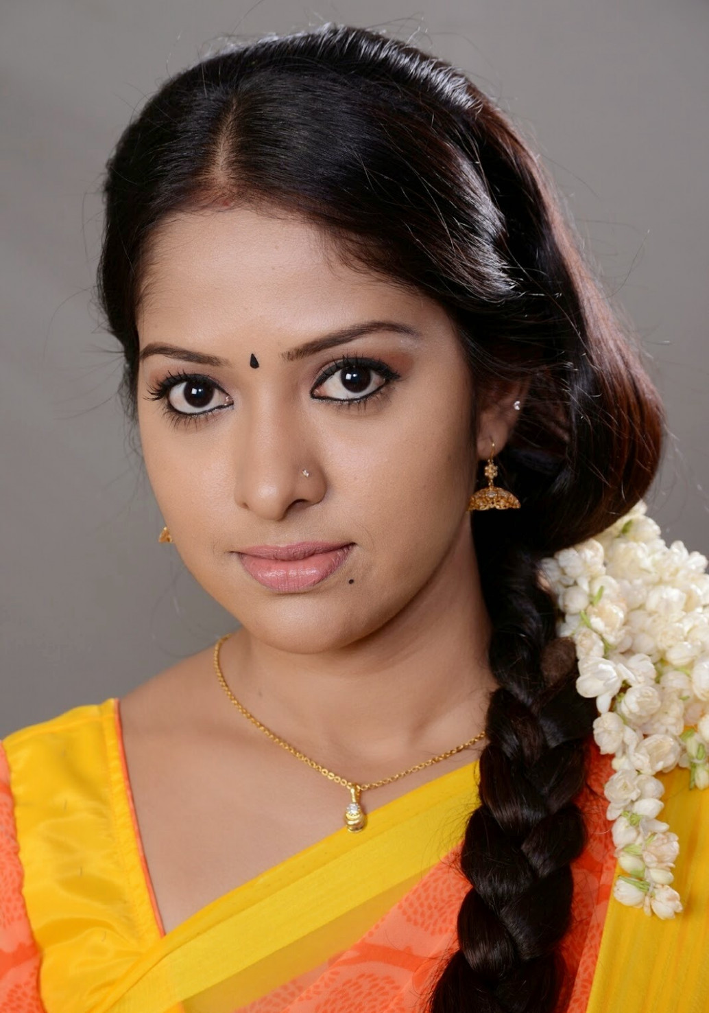 TV Serial Actress Jyothi Hot In Orange Saree - Tollywood Stars