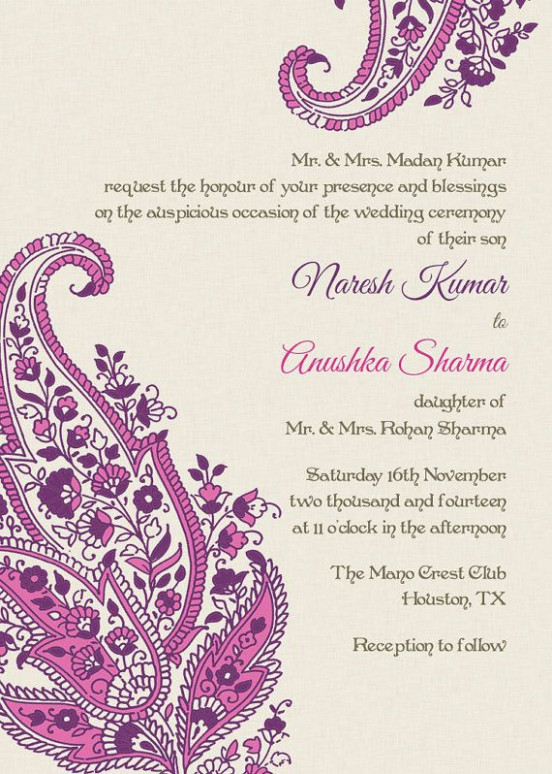 Unique Indian modern Wedding invitation wording and quotes ...
