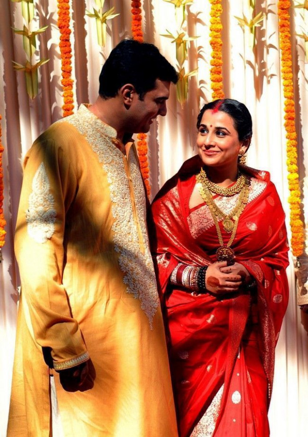 Vidya Balan wedding pictures with husband Siddharth Roy Kapur