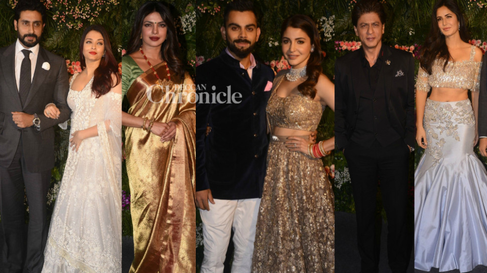 Virat, Anushka's wedding reception: Bollywood stars up the ...