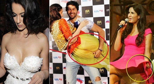 Wardrobe Malfunctions In Bollywood 2017 Worst Wardrobe ...