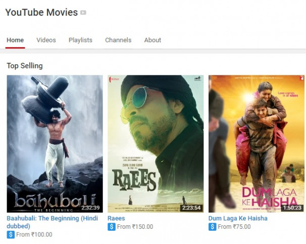 Watch Bollywood Hindi Movies Online on Youtube