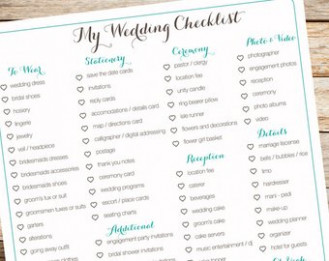Wedding checklist | Etsy