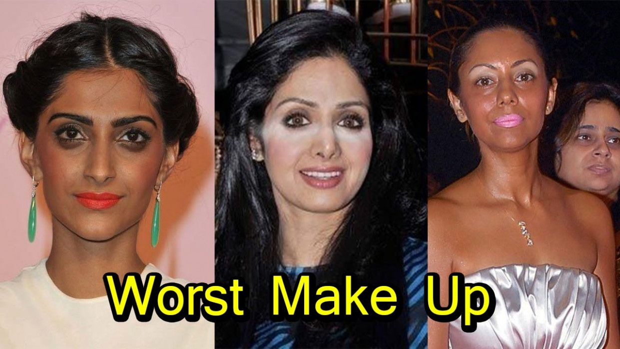 Worst Bollywood Celebrities Make Up Fails | Shocking - YouTube