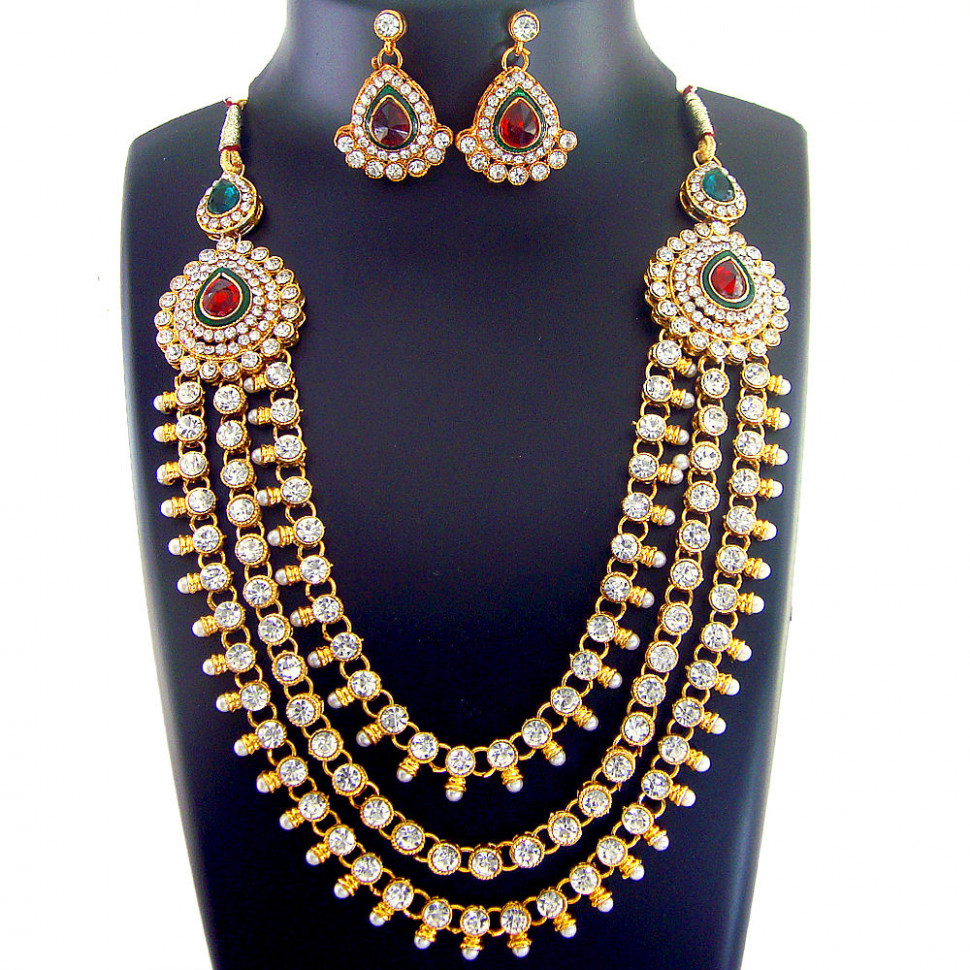 X 1 INDIAN Bridal Jewelry Bollywood New Necklace Ethnic ...