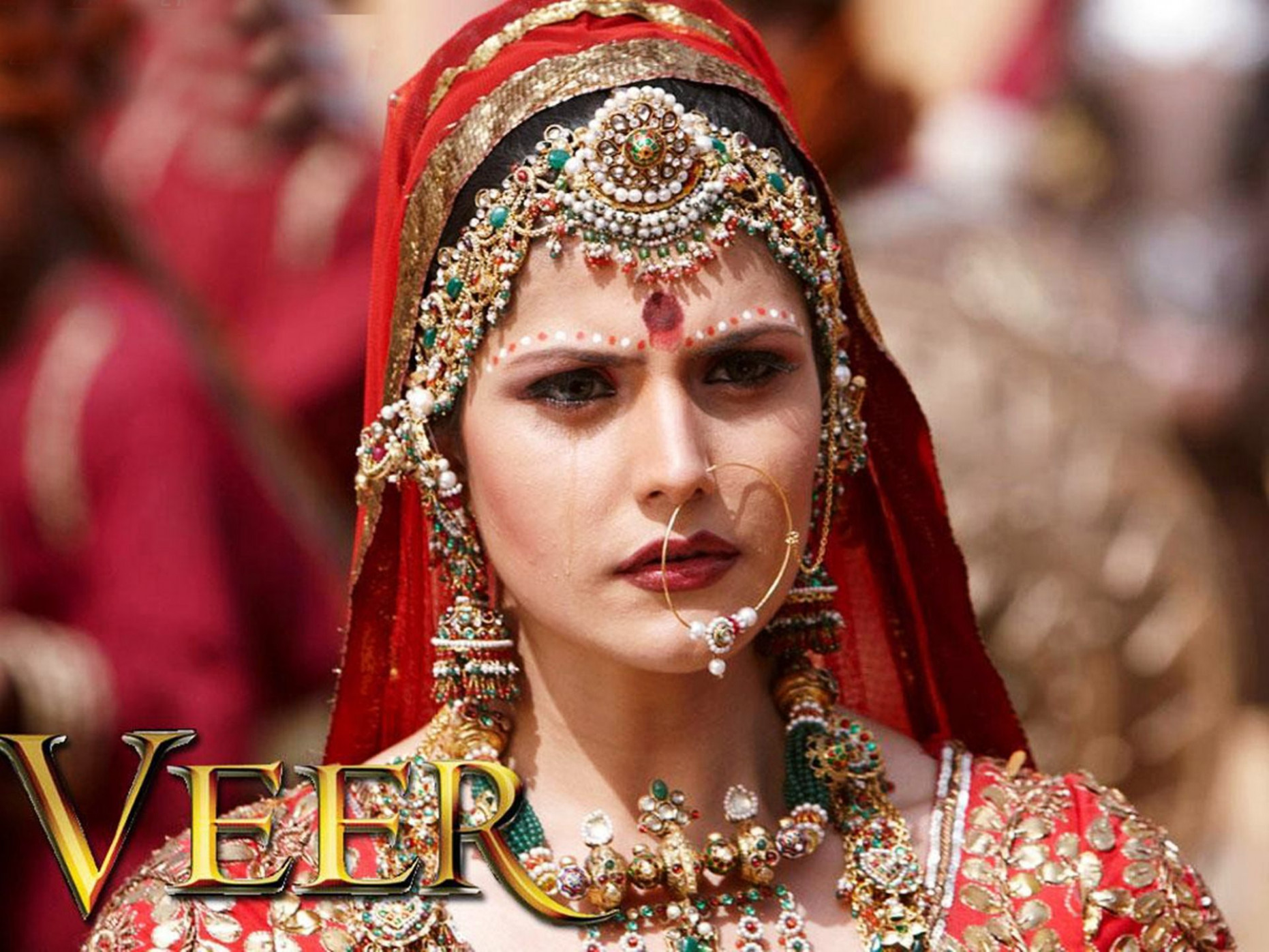 Zarine Khan in Bollywood movie VEER traditional Indian ...