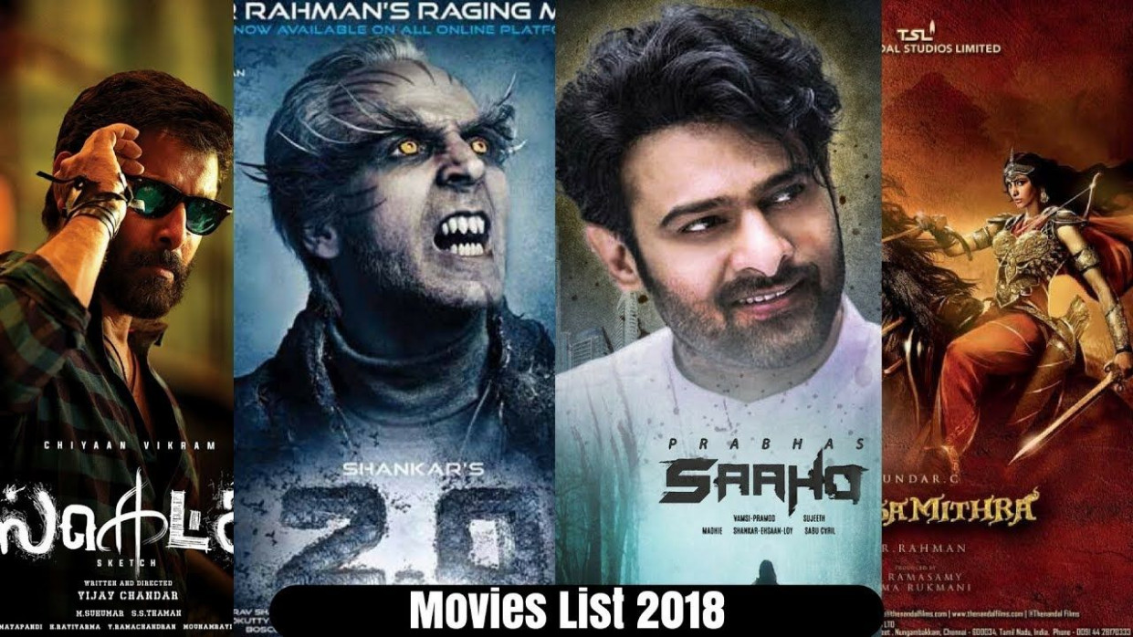 20 Upcoming Tamil Movies Complete List 2018 | 2.0 | Saaho ...