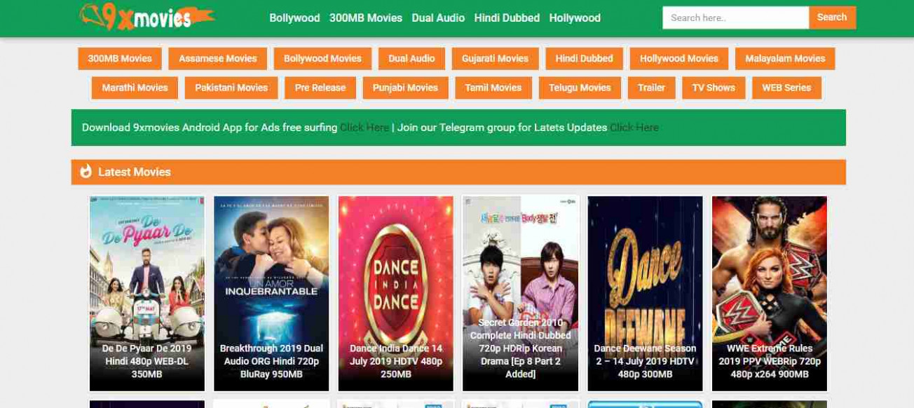 9xmovies 2019 - 300MB, Bollywood